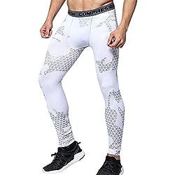 Térmicas de Compresión Leggings Polainas Apretadas Larga Base Capa Pantalones de Correr para Hombre M