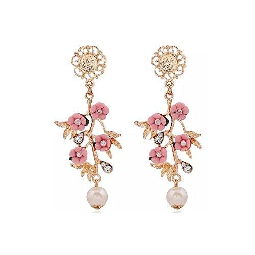 Treestar moda vintage orecchini di ramo di fiori barocchi per regalo compleanno valentino festa della mamma natale regali