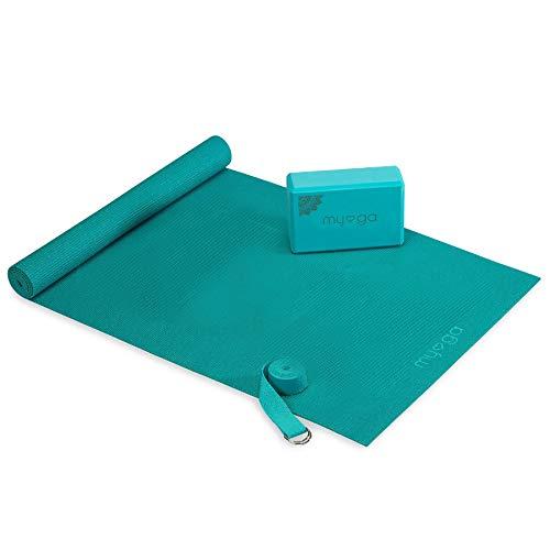 Myga Kit Yoga-Starter-Set, türkis, 150705 cm