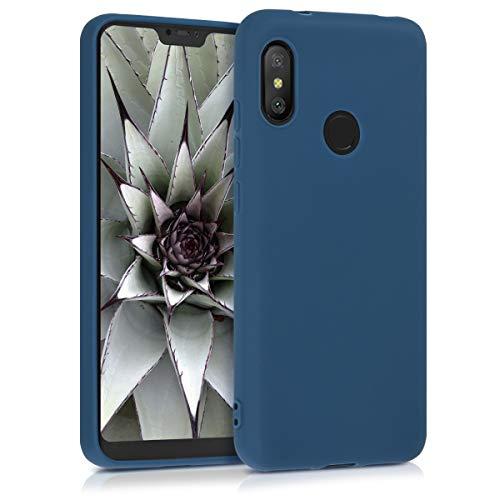 kwmobile Funda para Xiaomi Redmi 6 Pro/Mi A2 Lite - Carcasa para móvil en TPU Silicona - Protector Trasero en Azul Marino