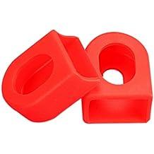 Protector de Bielas Goma Silicona para Biela Plato Bicicleta Color Rojo 6133rojo