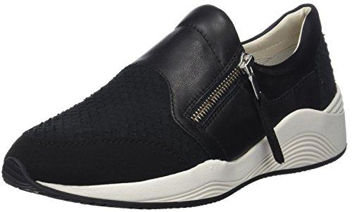 Geox Damen D OMAYA A Sneaker, Schwarz (Black), 37 EU Geox Trainer