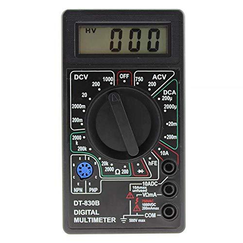 Multimeter DT-830B Practical Manual Handheld Auto Range Voltmeter Mini Kunststoff Volt Tester Digital Test Kabel LCD Widerstandsmessgerät Schwarz