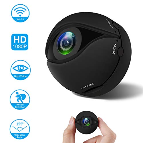 Mini Kamera Wireless WiFi Sport DV Kamera Video Recorder HD 1080P Kleine IP Kamera Überwachungskameras Intelligente Alarmanlage mit Bewegungserkennung / Nachtsicht für iPhone / Android-Telefon / PC Spy Wireless Camera Battery