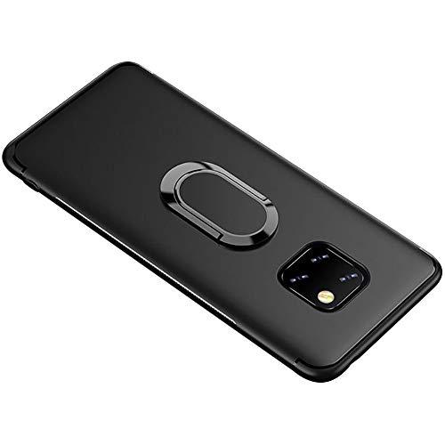 37kuku Hülle Case Compatible with Huawei Mate 20 Pro Ultra Dünn Weich Flexibel Schutzhülle Silikon Protection Case Tasche Ring Kickstand Handyhülle Kratzfest Stoßfest Bumper für Huawei Mate 20 Pro