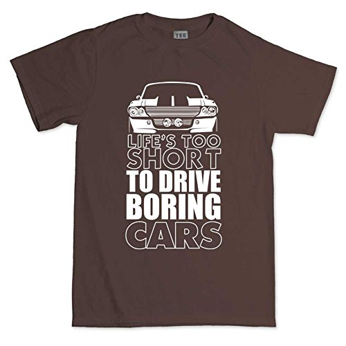 Life Is Too Short For Boring Cars GT500 Eleanor T shirt Brown