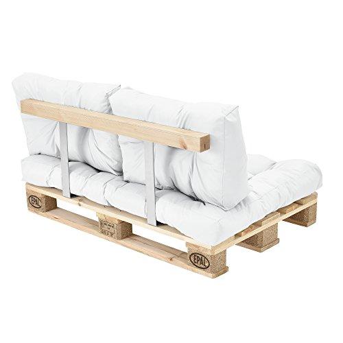 coussins pour palettes kit de 3 coussin de si ge coussins de dossier blanc. Black Bedroom Furniture Sets. Home Design Ideas
