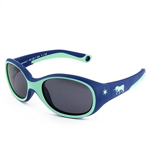ActiveSol KINDER-Sonnenbrille | MÄDCHEN | 100% UV 400 Schutz | polarisiert | unzerstörbar aus flexiblem Gummi | 2-6 Jahre | 22 Gramm [Unicorn]