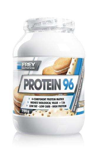 Frey Nutrition Protein 96 Cookies und Cream Dose, 1er Pack (1 x 750 g)
