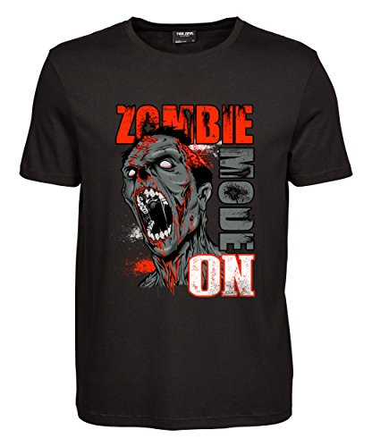 makato Herren T-Shirt Luxury Tee Zombie Mode Black