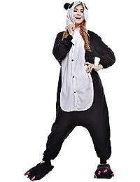 JINZFJG Pijamas Siameses de Franela Dibujo Animado Hombre/Mujer Pijama Disfraz Cosplay, Panda ,