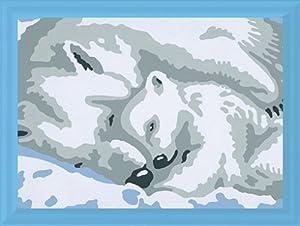 Ravensburger Spiel 29838 - Juego de Pintar guiado por números, diseño de Osos Polares