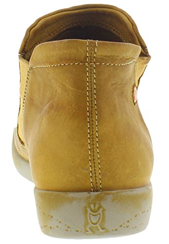 Softinos Damen Inge Washed Schlupfstiefel Camel/Beige