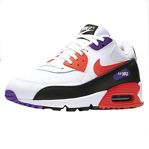 Nike Herren AIR MAX 90 Essential Gymnastikschuhe, Weiß (White/Red Orbit/Psychic Purple/Black 106), 48 1/2 EU