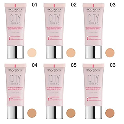 2 x Bourjois Paris City Radiance Foundation 30ml - 02 Vanilla