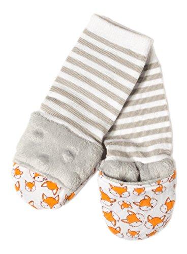 Handsocks Plushy Stay On Strap-Free No-Scratch /& Warmth Baby /& Kid Mittens 6-12 Months. Bicep Size Should be 5.0-8.0 Elodie Medium Grey Chevron