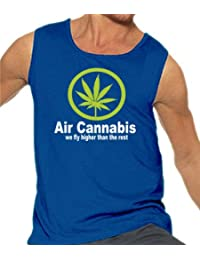 Touchlines Herren Air Cannabis - We fly higher than the rest Tank Top