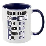Geschenke 24 Tasse – Mama GmbH: witzige Kaffeetasse mit Spruch für Mütter – originelles Muttertagsgeschenk I Geburtstagsgeschenk für Mama