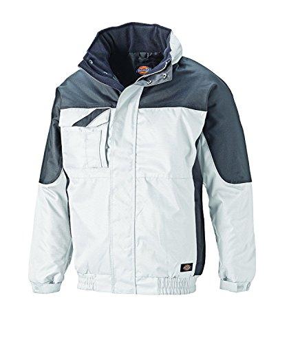 Dickies Industry 30060 Winterjacke, IN30060 ,weiß(weiß/grau),XL - Herren Jacke Wasserdichte Weiße