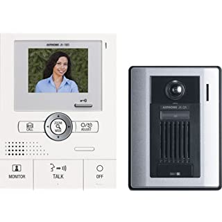 Aiphone JKS-1AD Audio/Video Single-Door Intercom Set, Includes Master Station with Power Supply and Surface-Mount Door Station