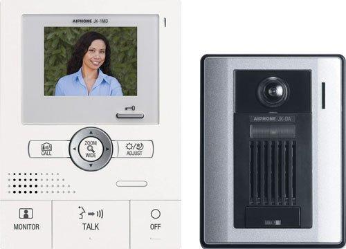 Aiphone JKS-1AD Audio/Video Ein-Türsprechanlage Set inkl. Masterstation mit Netzteil und Aufputz-Türstation Aiphone Audio
