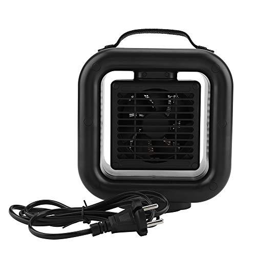Heizlüfter Elektro Mini PIC Keramik Raumheizungswärmer mit verstellbar Thermostat 3 Gang Lüfter Warm und Leise für Büro Haus(EU)