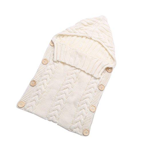 Loveble Neugeborenes Baby Wickeln Decke, Warmer Winter Klein kind Wolle Stricken Decke Wickeln Schlafsack Kinderwagen Wrap für 0-12 Monat