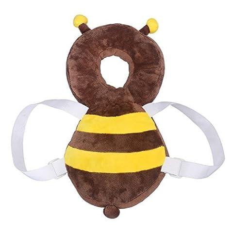 Baby Kopf schützen Kissen, BELLESTYLE einstellbare Kopf und Schulter Schutzkissen für Baby Walking Crawling - Biene