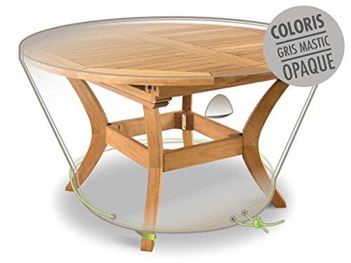 Jardideco - Housse de protection pour table ronde Ø 120 x 50 cm LUXE