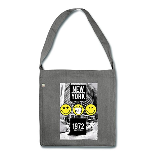 smiley-world-new-york-gratte-ciel-sac-bandouliere-100-recycle-de-spreadshirtr-charbon-chine