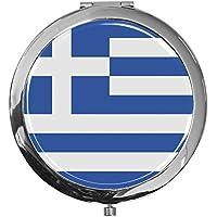 """metALUm - Extragroße Pillendose in runder Form""""Flagge Griechenland"""" preisvergleich bei billige-tabletten.eu"""