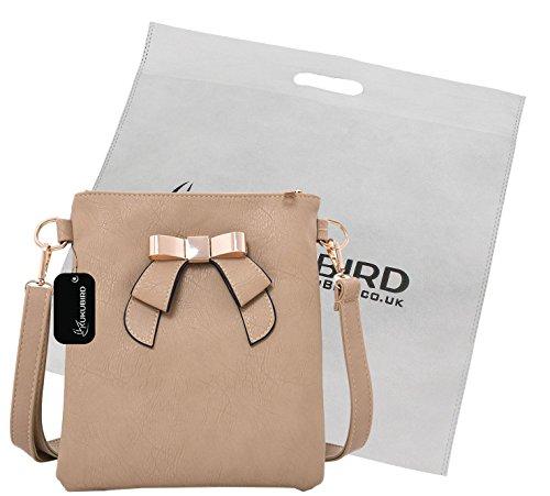 Kukubird Joan Crossbody Bag Sac Casual quotidienne avec sac à poussière Kukubird Light Khaki