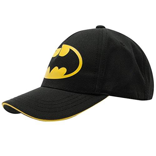 DC Comics Batman gorro de gorra de béisbol negro/amarillo gorro de invierno, Juniors