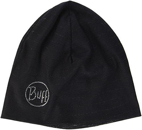 Buff Microfiber Reversible Hat Mütze, Black Stripes Chic, One Size Reversible Stripe Beanie