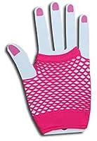 Tiger of London Hot Pink Fingerless Fishnet Gloves - Punk Goth Club