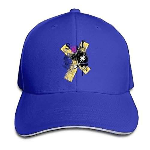 Unisex Sandwich Peaked Cap Skull Soul Full Art Adjustable Cotton Baseball Caps Camo Full Back Cap