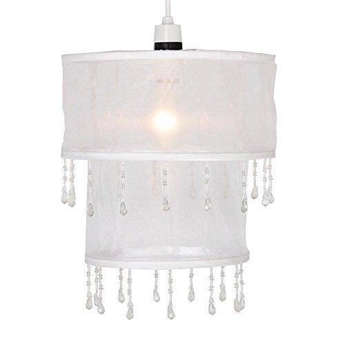 abat-jour-contemporain-pour-suspension-shabby-chic-2-tambours-en-cascade-voile-en-blanc-avec-perles-