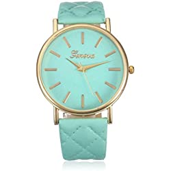 Tonsee Women Fashion Roman Numerals Faux Leather Band Analog Quartz Wrist Watch