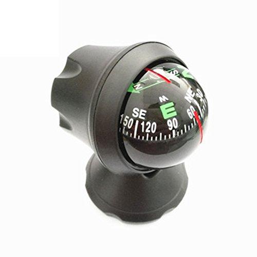 Mioloe 1569/5000 RR-12-15-6 Auto Kompass Auto Mini Compact Ball Kompass mit Klebstoff und Zarte Dekoration, Ideal für die Suche Richtung, Universal für die Meisten Autos, Schwarz