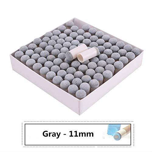XuBa Profi-Billardqueue-Spitzen, Grau, 100 Stück, gray/11 mm