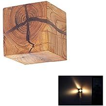 1dd78d386c9 ZZW Lámpara de Pared de Madera