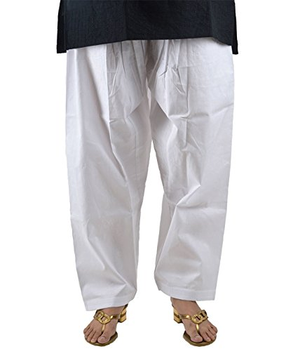 Pistaa's Women's Cotton Readymade Salwar (White_Free Size)