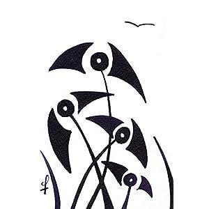 Olivier Cornil – La plage – Tuschezeichnung – 10 x 15 cm