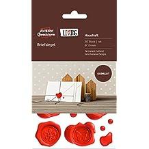 AVERY Zweckform 62016 Living Briefsiegel (permanent haftend, Ø 19 mm) 30 Stück rot