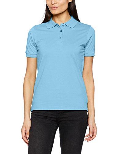 James & Nicholson Damen Poloshirt Classic Polo Ladies Blau (Sky-Blue), 40 (Herstellergröße: XL) (Blue Classic Polo Ladies)