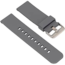 Samsung SM-R380 / LG-W100 / MOTO 360 Banda de reloj - SODIAL(R)22 mm de silicona movimiento Banda de reloj para Samsung SM-R380 / LG-W100 / MOTO 360 Gris