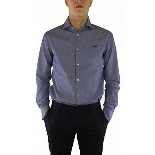 Camicia uomo Armani Jeans, slim fit, rigata, art: C6C20NV (small, Blu a righe)