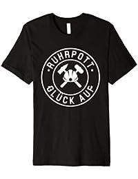 Ruhrpott Glück Auf Bergbau T-Shirt Geschenk für Herren