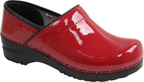 Sanita Professional Patent Clog Red Größe 40 Sanita Professional Clogs