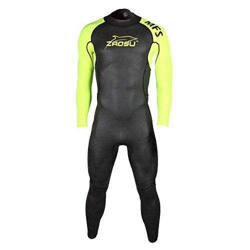 ZAOSU Herren MFS Neoprenanzug | Triathlon Wetsuit Zum Freiwasser Schwimmen, Größe:ML